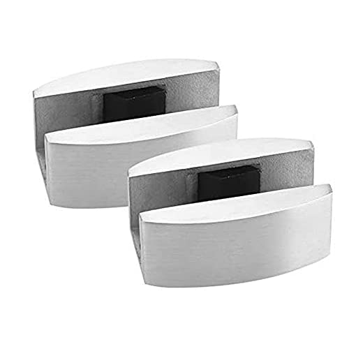 Bayda 2 piezas para puerta corredera de cristal con guía de acero inoxidable para reemplazar la guía de puertas correderas de cristal sin marco