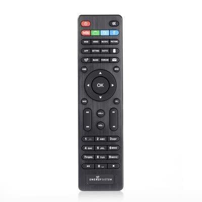 Energy Sistem 396313 - Mando a Distancia (Sintonizador de TV, Botones, Negro)