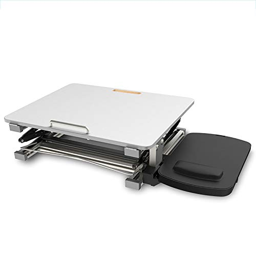 Mesa Ordenador Portátil Multifuncional Ajustable | Soporte de Regazo para Laptop Tablet Plegable| para Diván Sofá Cama | Aluminio Extra Ligero | Blanco