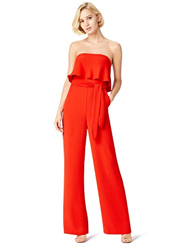 Marca Amazon - TRUTH & FABLE Mono Mujer, Rojo (Red), 36, Label: XS