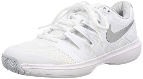 Nike Damen Air Zoom Prestige HC Tennisschuhe, Mehrfarbig (White/Metallic Silver-Pure Platinum 119), 38 EU