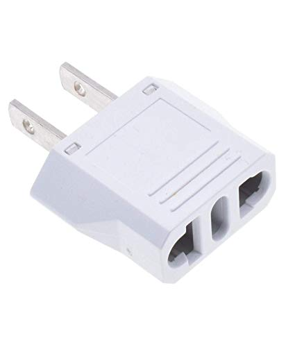 US Plug Adapter, Easy to Use Fireproof Safe, Europe to US Plug Adapter, EU/CN/AU/Italy to USA/Canada Travel Adapter, Outlet Adapter Europe to USA, EU to Us Plug Adapter, European to Us Plug Adapter.