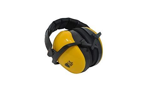 Viwanda Kapselgehörschutz gelb - Kinder Gehörschutz mit verstellbarem Kopfbügel für Lärm bis SNR: 29,8dB - Hörschutz mit geringem Gewicht auch für Jugendliche und Erwachsene CE EN352-1 zertifiziert