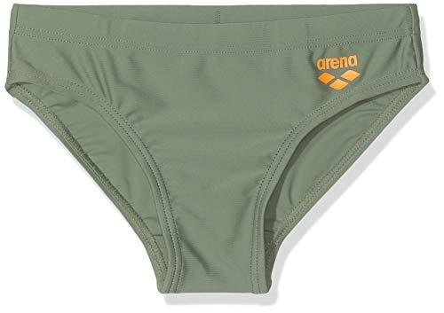 ARENA Jungen Slip Dynamo Badehose, Army-Tangerine, 152