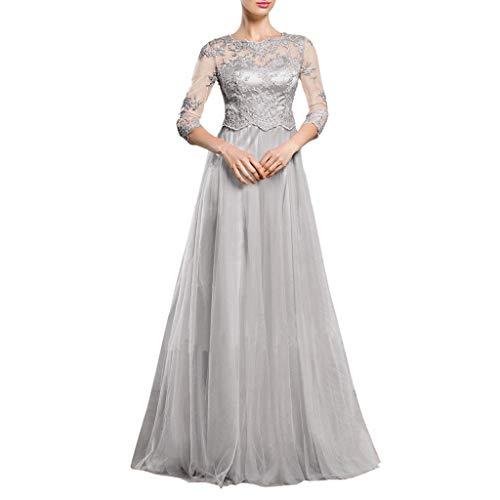 Vestidos para Mujer,Elegante Vestido de Novia Vestidos de Boda del cordón Fiesta Vestidos Vestido de Cóctel Vestido de Noche Vestido Moda Slim Fit Vestidos Largo Sexys Vestidos vpass