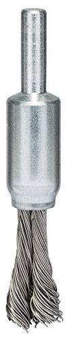 Bosch Professional Pinselbürste, Edelstahl, gezopfter Draht, 0,35 mm, 10 mm, 4500 U/ min, 2608622128