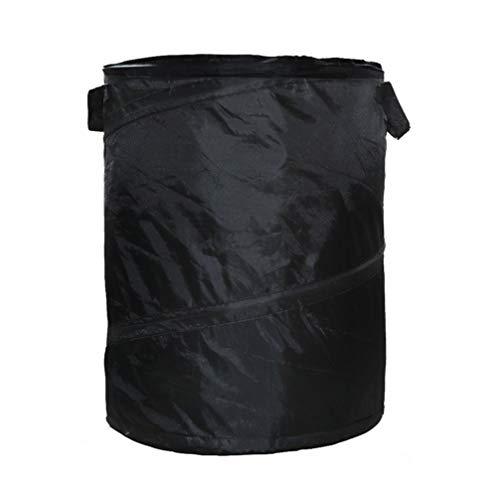 DOITOOL Wiederverwendbare Gartenabfallsäcke Oxford-Stoff Faltbarer Rasenblattbehälter Super Sack Hofabfallsäcke für den Garten im Freien (schwarz)