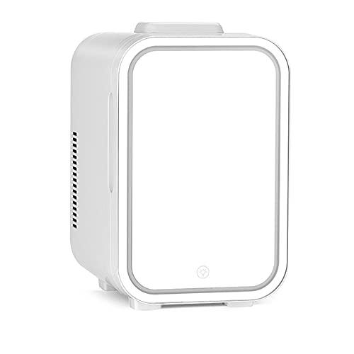 AIISHY Mini refrigerador de Maquillaje de 8L, refrigerador cosmético portátil, Enfriador y Calentador, iluminación LED Regulable, para Oficina en casa y automóvil,20x26x31cm