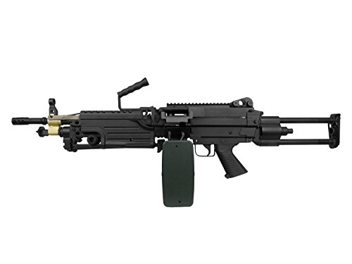 A&K M249 para Vollauto Softair/Airsoft Light Machine Gun Maschinengewehr -schwarz- < 0,5 Joule