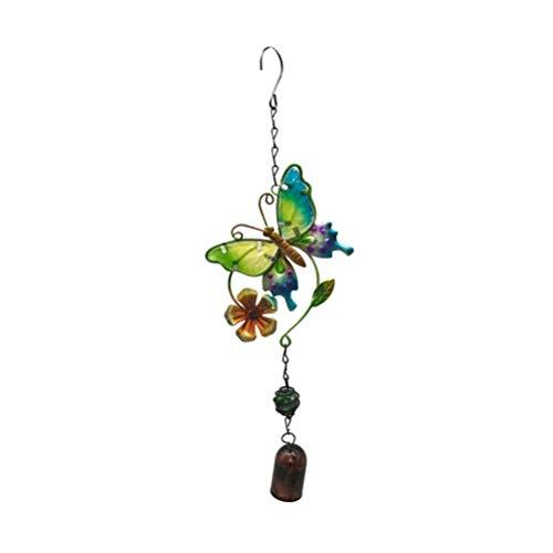 Garneck Schmetterling Windspiel Metall Windglocke Gartenglockenspiel Hängende Dekoration für Gartengeschäft Home Balkon Terrassenfenster