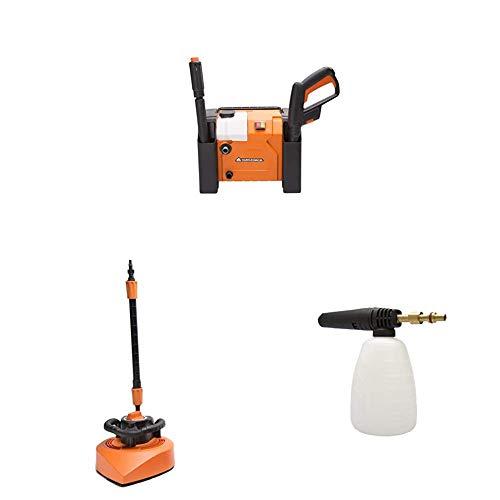 Yard Force nettoyeur haute pression compact 135 Bar/1800W avec attachement de nettoyant de terrasse et bouteille de super-pulvérisation de 0.7 l