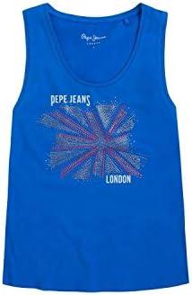 Pepe Jeans Camiseta Sin Manga Tabby Azul Electrico para Mujer