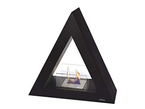 PURLINE TALIA B Biocamino a pavimento piramidale nero per interni ed esterni