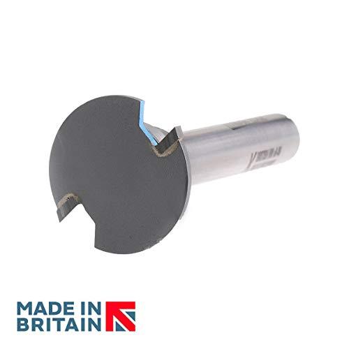 Weatherseal Fugenfräser, Durchmesser 36 mm x 2,5 mm Schnitttiefe – 1/2-Zoll-Schaft – Titman Edge – E211HTC