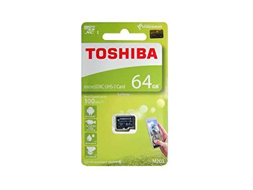 Toshiba M203 64GB Class 10 Micro SD Memory Card (THN-M203K0640A4)