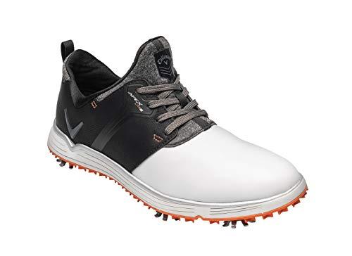 Callaway Herren Apex Lite S Lightweight Waterproofs Golfschuhe, Weiß (White/Black White/Black), 47 EU