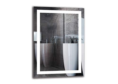 Espejo LED Premium - Dimensiones del Espejo 50x70 cm - Espejo de baño con iluminación LED - Espejo de Pared - Espejo de luz - Espejo con iluminación - ARTTOR M1ZP-47-50x70 - Blanco frío 6500K