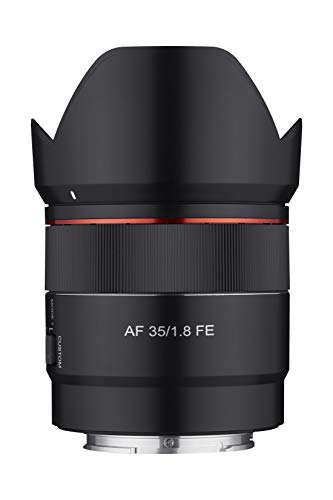 Samyang 35mm F1.8 Auto Focus Compact Full Frame Wide Angle Lens for Sony E Mount, Black (SYIO3518-E)