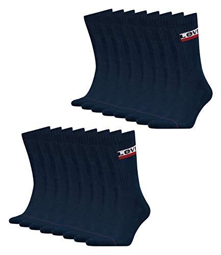 Levis® Herren Sportsocken Regular Cut 120SF 8er Pack, Größe:39-42, Farbe:Dress Blues (198)