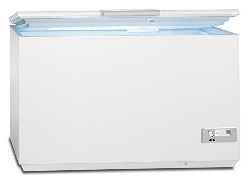 AEG AHB93331LW Gefriertruhe / 327 L / LowFrost – weniger Eisbildung / Quick-Türöffnung / Temperaturalarm / Rollen