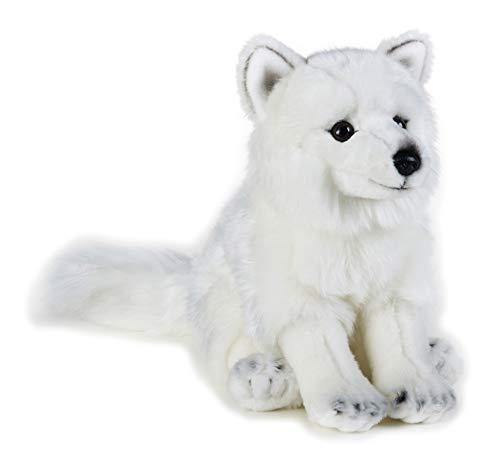 National Geographic 9770728 Polarfuchs Plüschtier, weiß