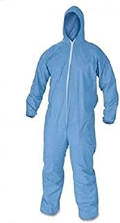 Shophere PPE kit Personal Protection Equipment Disposable Coverall Suit - Free Size Blue