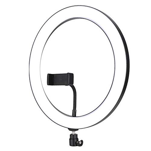 Garsent Luz de Relleno LED Anillo de LED Regulable RGB de 12 Pulgadas Luz autofoto para fotografía Maquillaje Transmisión en Vivo(yo)