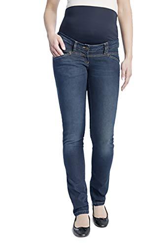 Christoff Schwangerschaftsjeans Umstandshose Jeanshose - Straight Leg - elastisches Bauchband - tiefer Bund - 31/88/8 - blau - 40 / L32