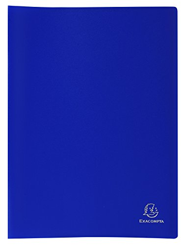 Exacompta 8562E - Carpeta de 60 fundas PVC, A4, color azul