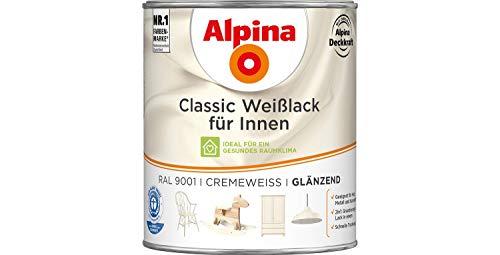 Alpina Classic Weißlack für Innen Cremeweiß RAL 9001 glänzend 750 ml