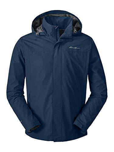 Eddie Bauer Men's Rainfoil Packable Jacket, Med Indigo Regular M