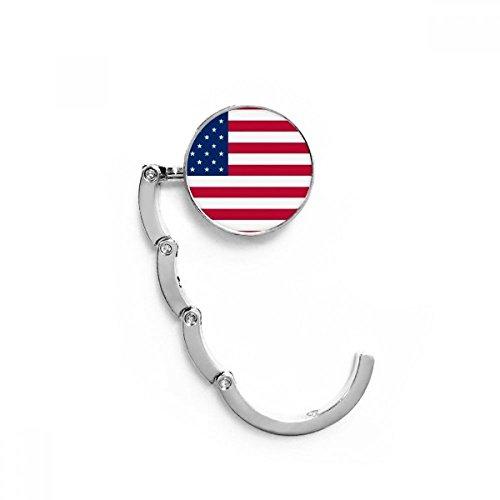 DIYthinker Bandera Nacional EE.UU. América del Norte Cuadro País Gancho Plegable del Bolso de Colgar Titular de Escritorio Plegable