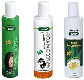 Bakson's Sunny Hair Kit 4 - Arnica Hair Oil - 150ml, Anti Lice Shampoo - 150ml, Arnica Hair Conditioner - 150ml