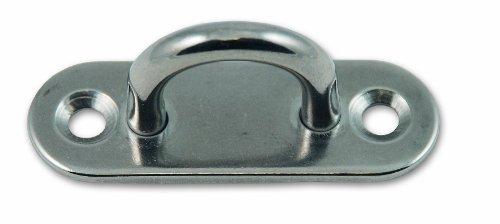 Chapuis PLAI1 Lote de 2 pletinas con ojal - Acero inoxidable - Distancia entre ejes 12 mm - Pletina 45 x 15 mm