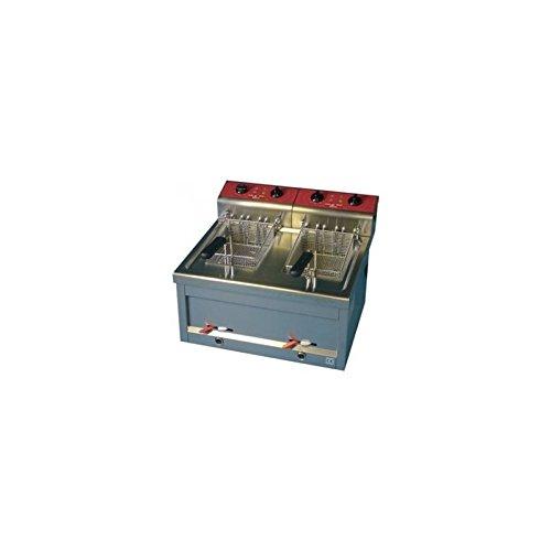 Friggitrice di bancone 2x 9L Da Tavolo Con svuotamento elettrico