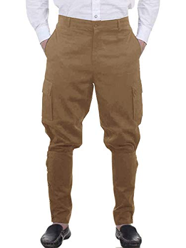 Men's Ankle Banded Pants Medieval Viking Navigator Trousers