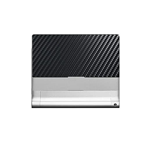 VacFun 2 Piezas Protector de pantalla Posterior, compatible con Lenovo B8000 Yoga Tablet 10.1' B8000-F, Película de Trasera de Fibra de carbono negra Skin Piel