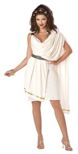 California Costumes Women's Deluxe Classic Toga Tunic, Cream, X-Large Costume