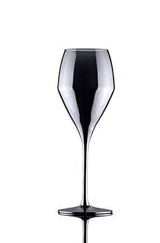 Copa de vino de cristal transparente, copa de cóctel, copa de champán, juego de 6 unidades, color platino