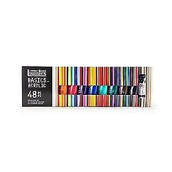 cheap Liquitex BASICS 48 tube set, acrylic paint, 22 ml
