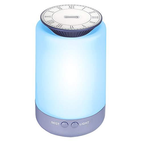 UMICKOO Aroma Diffusor, Luftbefeuchter mit 7 Farb-LED-Lichter 150ml Raumbefeuchter mit 2 Nebelmodus wasserlose automatische Abschaltung für Zuhause Büro Baby oder Yoga