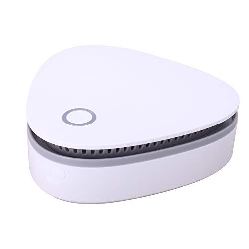 SEECODE 20255 - Mobiler Ozon Sterilisator, Kompakt Luftreiniger für Wohnung, Auto, Bad und Küche, für Räume bis 4 m³, für keimfreie und geruchsfreie Luft, Lufterfrischer mit Akku und USB Kabel, Weiß
