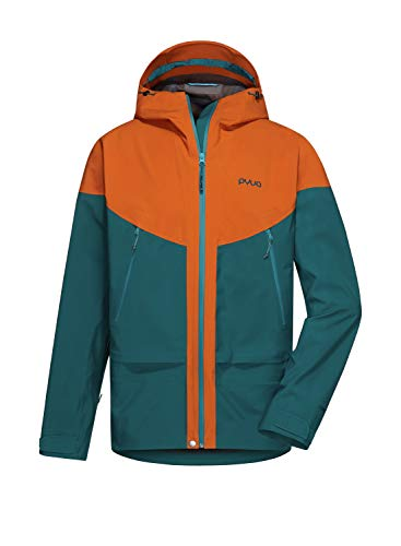 PYUA Herren Gorge-Y Jacke, Rusty orange-Petrol Blue, S