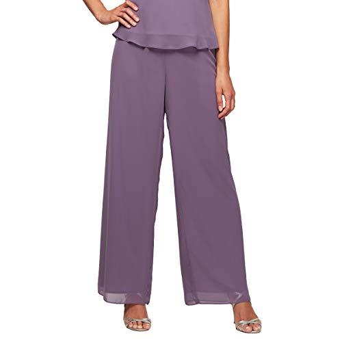 Alex Evenings Women's Wide Leg Dress Pant (Petite Regular Plus Sizes), Icy Orchid, M