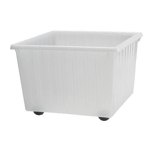 IKEA VESSLA recuadro ruedas Box in blanco