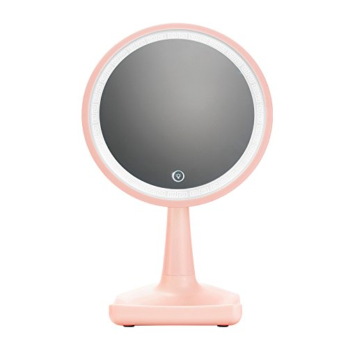 Black Friday Deals 2017 Pink Led Lighted Makeup Mirror Portable 360° Rotation Brightness Adjustable High Definition Vanity Mirror Cosmetic Mirrors Table Lamp Night Light For Bedroom Travel