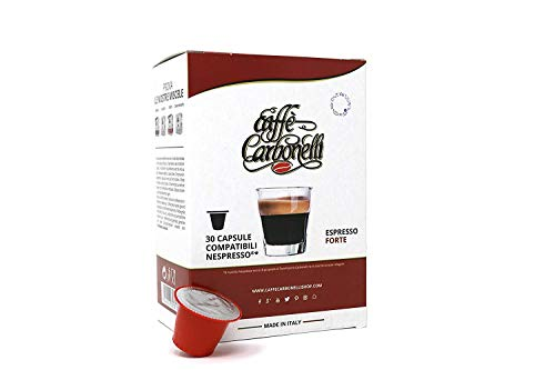 120 Cápsulas de Café Compatibles Nespresso - Caffè Carbonelli mezcla fuerte - espresso napolitano