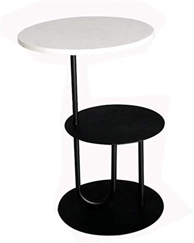 WSHFHDLC coffee table Coffee Table 2 layer table circular side table accent table for dinner work home office furniture living room desk in the living room removable stand small coffee tables
