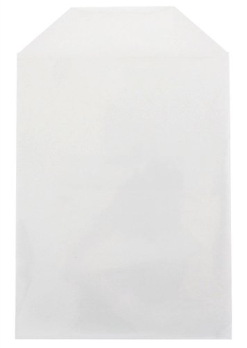 mediaxpo 500 CPP Clear Plastic Sleeve with Flap (Fits 14mm DVD Case Artwork)