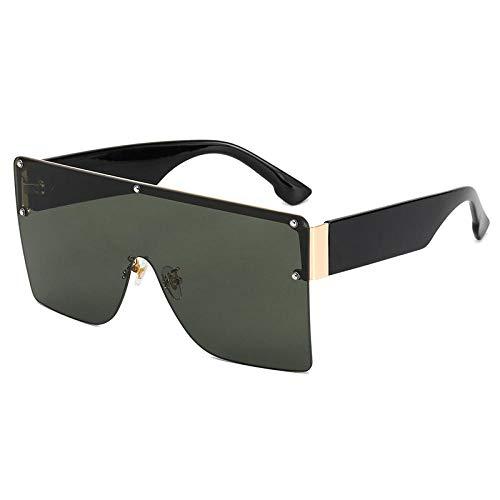 Gosunfly Gafas de sol retro Gafas de sol Gafas de sol Nuevas gafas de sol-Negro / verde oscuro